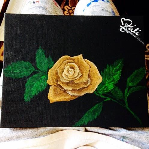 "Thorns. 8""x6"". Acrylic on Kanvas."