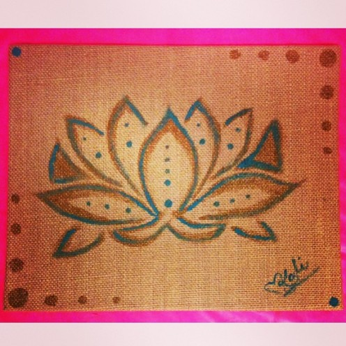 "Lotus. 6""x8"". Acrylic on Kanvas."