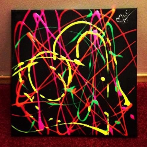 """Beautiful disaster. 16""""x16"""". Acrylic on Kanvas."""