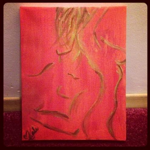 "Equals. 6""x8"". Acrylic on Kanvas."