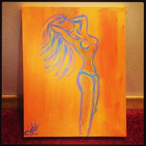 """Vibrant. 6""""x8"""". Acrylic on Kanvas"""