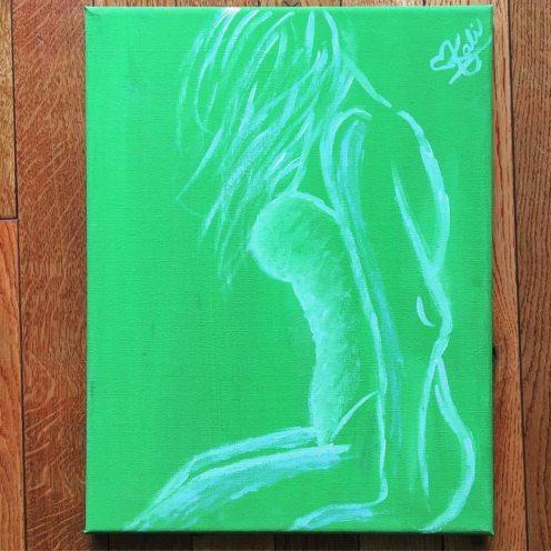 """Keep you Head up. 8""""x12"""". Acrylic on Kanvas."""