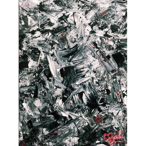"Commission - Tough as Nails. 12""x16"". Acrylic on kanvas."