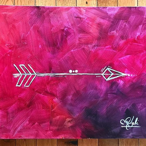 """Forward. 14""""x18"""". Acrylic on Kanvas."""