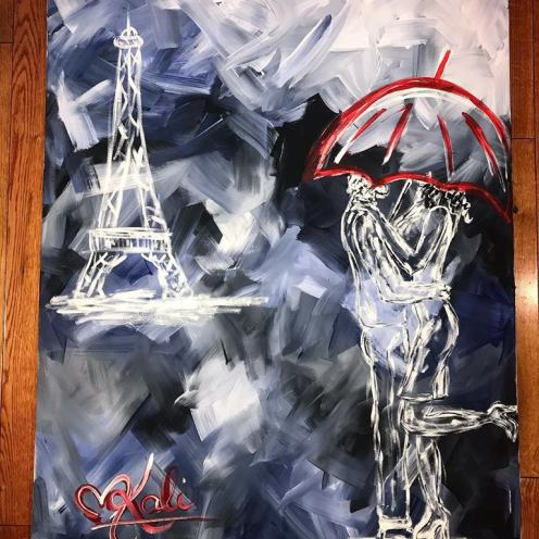 """May our storms become our strengths. 25""""x39""""x2"""". Acrylic on Kanvas. $975.00"""