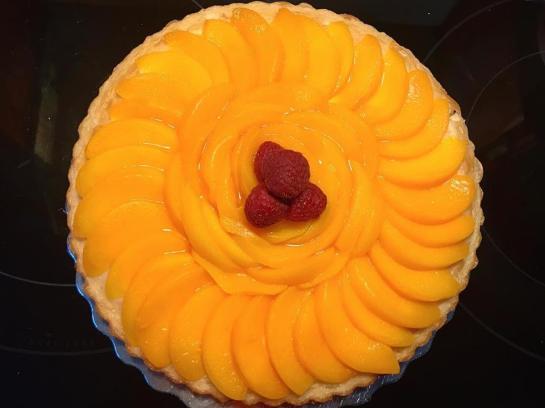 "8"" Fruit Tort. $40."