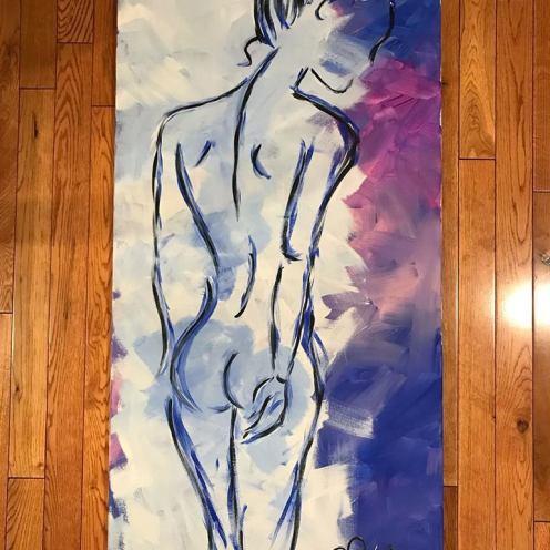 """Spine. 20""""x40"""". Acrylic on Kanvas. $800.00"""